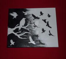 Crows in my mind by carriephlyons