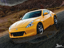 [PM] Yellow Nissan - Rainy Day by Kevin-Yoshi