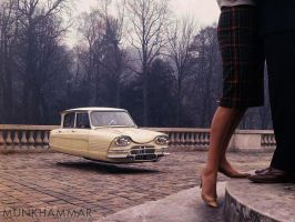 Flying Citroen Ami by JacobMunkhammar