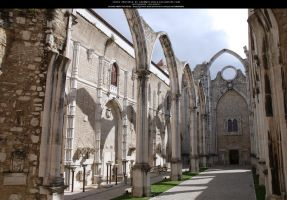 Abbey Ruins I - Carmo by Grinmir-stock