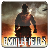 Battlefield 3 HQ DOCK ICON with Logo PNG 2 by Djblackpearl