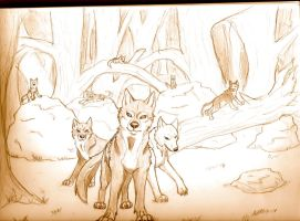 pack of wolves by morganwtb11