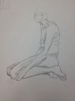 Contour Drawing of Male Model 02 by NinjaObsessed