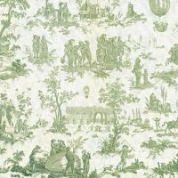 Green toile background by jinifur