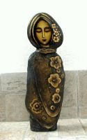 Painted Stone Figurines 1 by stefanpriscu
