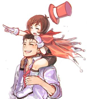 Wright and Trucy by KaNoir