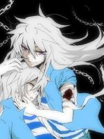 Ryou x Bakura - Tendershipping - Colored by nessieleigh