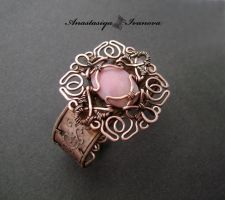 bracelet with pink opal by nastya-iv83