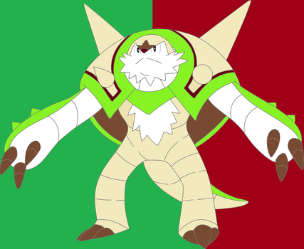 Chesnaught Lineart by SpazzDemon25