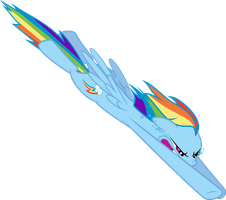 Rainbow Dash about to Rainboom (FIXED) by ConcorDisparate