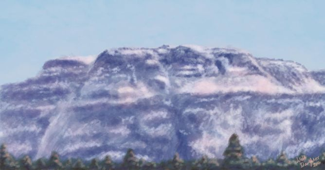 Mt. McKay Speed Paint by Wolf-Daughter