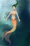 Mermaid WIP by platinumfrost