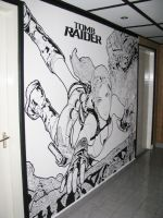 Tomb Raider Mural by namivanmar