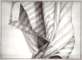 Cloth drawing by MongJa9