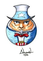 CircleToon: Uncle Sam by Fellhauer