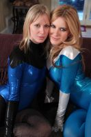 Jacquelyn and Serena: Leotard Love # 8 by sleeperkid
