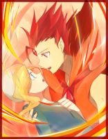 Flame Prince and Fionna by rockerblack135
