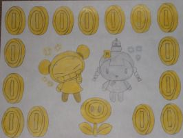 Gold Pucca and Silver Ching by rabbidlover01