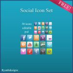 Social Icon Set by ryanbdesigns