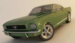 ford mustang 289 CAD model by spikysi