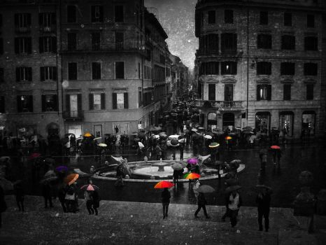 Standing out in the Rain by fakeprofileofme