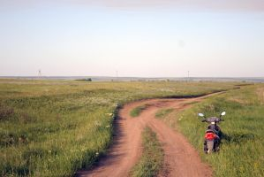 Steppe road stock by croicroga