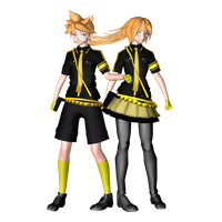 MMD Love Is War Len And Lenka Models by ChiharuYuuka