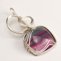 Green+Purple Fluorite Pendant by innerdiameter