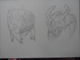 DOOM 4 - Cacodemon and lost soul by PanZhen3
