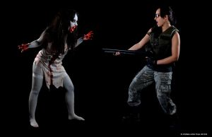 The Zombie Vs The Survivor by Artyfakes