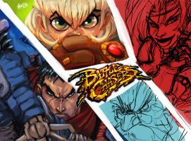 battle chasers WIP2 by shoze