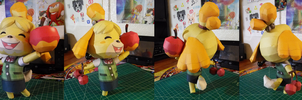 Animal Crossing Papercraft ~ Isabelle ~ by SuperRetroBro