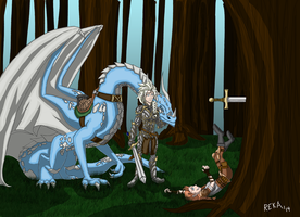 Teaching a Young Dragonrider by BigZ63