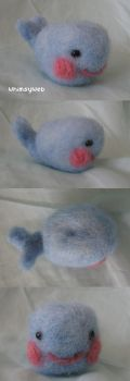 Needle Felted Whale Kawaii by WhimsyWeb