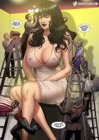 Giantess Pria and Her Makeup Crew by giantess-fan-comics