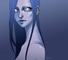 Blue girl by sashajoe