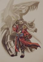 Auron and Bahamut by TheGoddess908