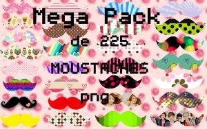 MEGA PACK DE 225 MOUSTACHES PNG by Aguus-Cas