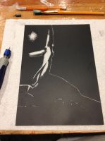 Ironman scratch art... by Threedayslong