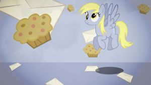 Derpy muffin mail wallpaper minimalistic by Nidrax