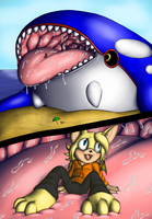 Kyogre eats Bruce by saber-th