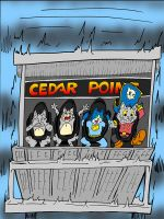 CosmiCat and pals at Cedar Point by PlummyPress