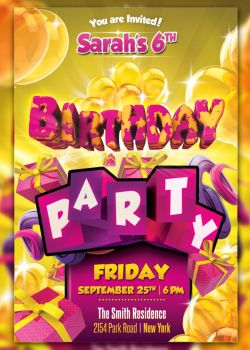 Kid Birthday Party Flyer by cleanstroke