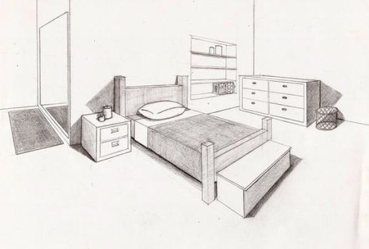perspective bedroom by Gilstrap