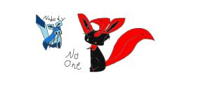 No One And No Body - Free Hand Brush by EeveelutionsGoddess