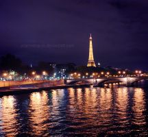 Night in Paris by arianneharris