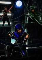 Young Justice Omega 3 arrows by ErgoAsch