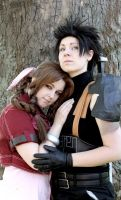 Still by your side - Aerith and Zack by xSan-chi