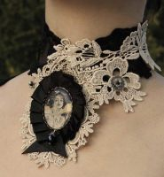 Mucha ivory lace collar by Pinkabsinthe