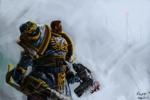 Space Marine by Rhunyc